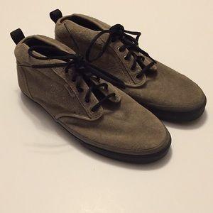 Vans Hi Top Suede Leather Shoes Size 11